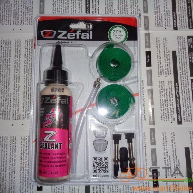 Tubeless Zefal Conversion Kit Rim Tape Sealant and Valves