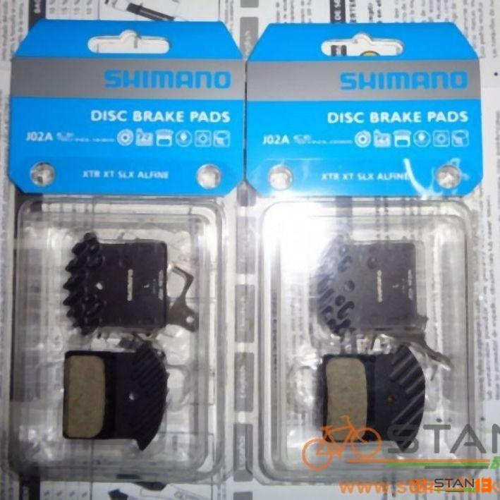 Brake Shimano Ice Tech Brake Pad with Fins J02A for M6000, M7000, M8000 Brakes