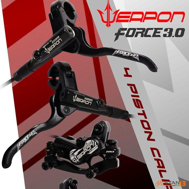 Brake Weapon Force 3.0 Quad Hydraulic Brakes 2 Finger Full ALLOY Material