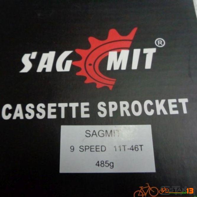 Cassette Sagmit Sprocket 11-46T 9 Speed 485 grams