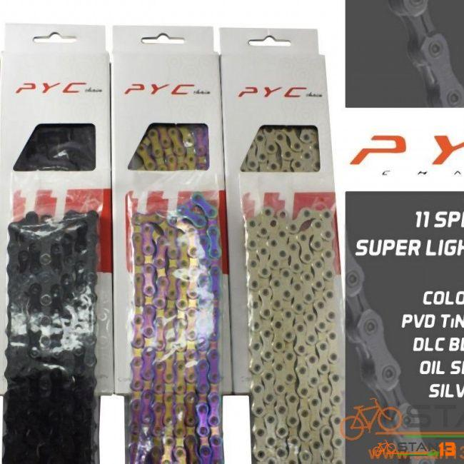 Chain PYC SP1102 DLC BLACK Ultra Light Chain SOLID Plate and Pin