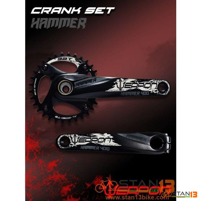 Crank Weapon Hammer 400 Hollowtech Crank 1X ALLOY CHAINRING