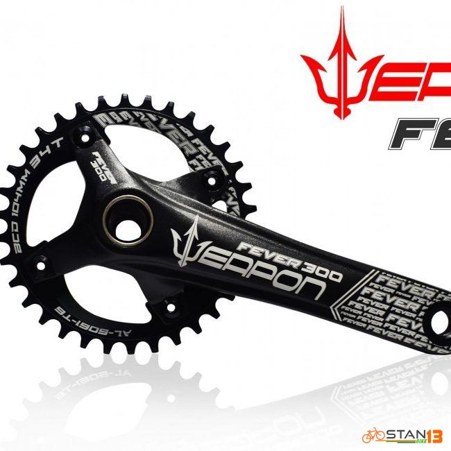 Crank Weapon Fever 300 Hollowtech Crank 1X ALLOY CHAINRING