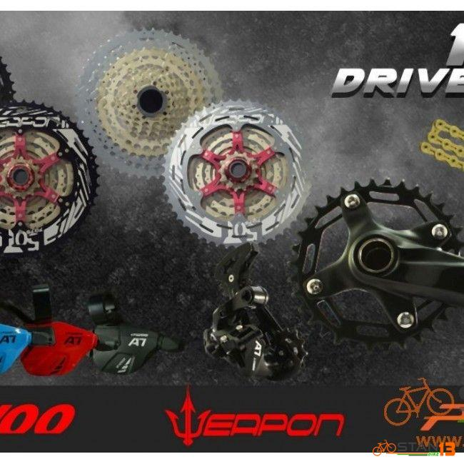 Cassette Weapon Shuriken Elite Series 11 Speed 50T Alloy Last Cog with Weapon Decals