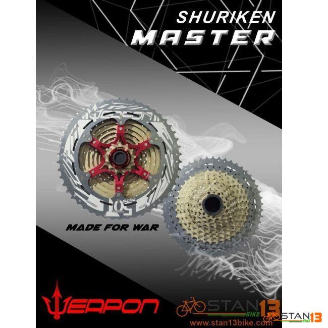 Cassette Weapon Shuriken MASTER Series 11 Speed 50T Alloy Last Cog with Weapon Decals