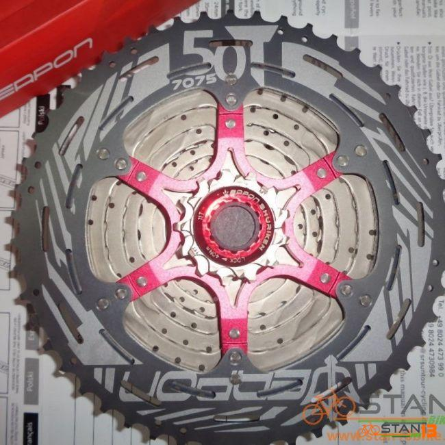 Cassette Weapon Shuriken MASTER Series 10 Speed 50T Alloy Last Cog with Weapon Decals