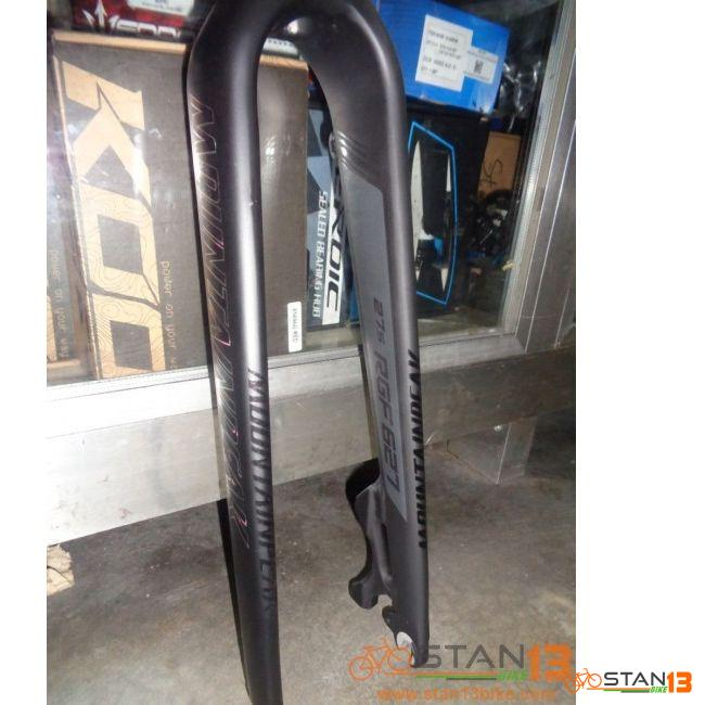 Fork Mountainpeak Rigid Fork Alloy 27.5 Straight Steerer Tube Alloy Material 6061 9mm Quick Release Please specify if your order is BLACK/RED combo or BLACK/GREY combo