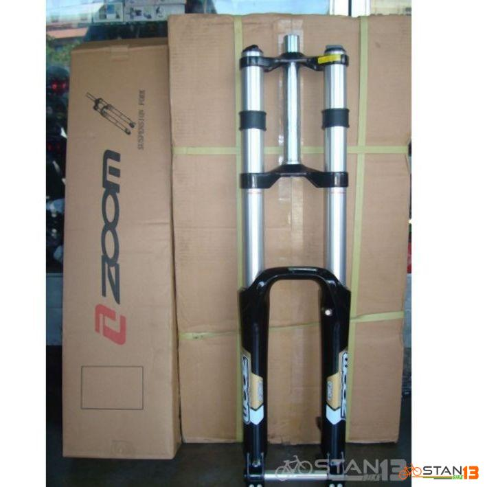 Fork Zoom 180mm Double Crown Magnesium Alloy Fork 4X DH Set Up Light Weight Limited