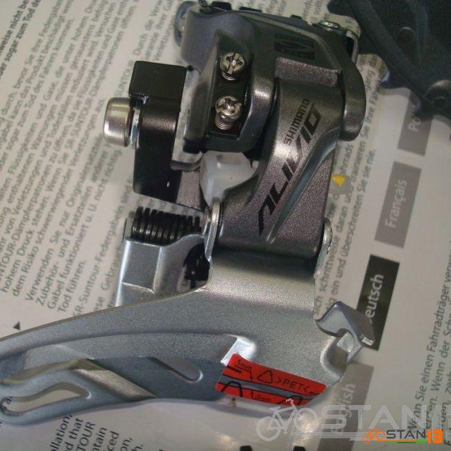 Groupset Shimano Alivio Groupset hollowtech Separate Type MT200 Brakes No Hubs