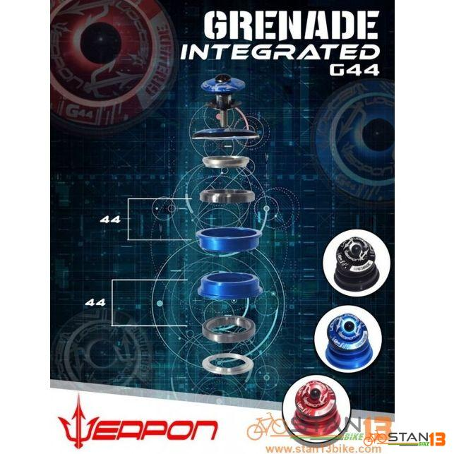 Headset Weapon Grenade G44 INTEGRATED Sealed Bearing Heavy Duty Headset