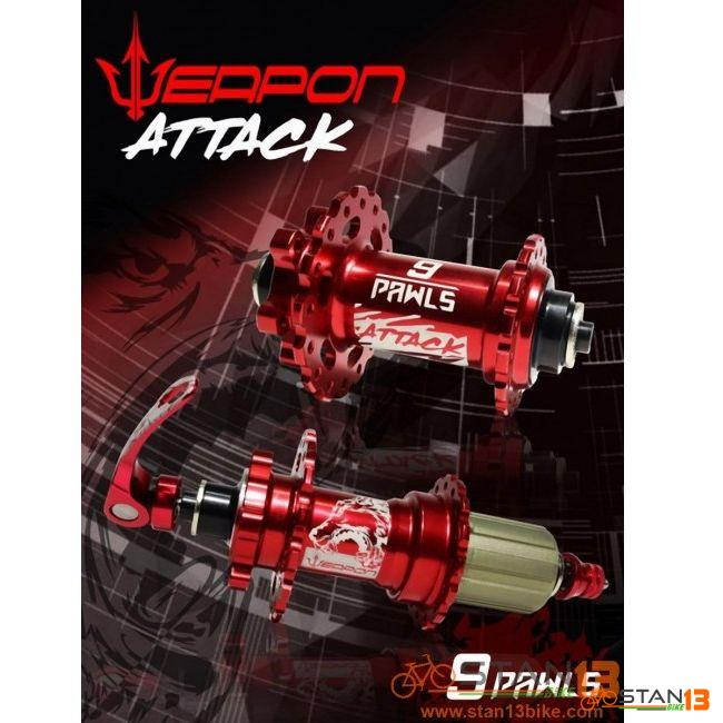 Hub Weapon ATTACK Sealed Bearing Hubs 9 Pawls
