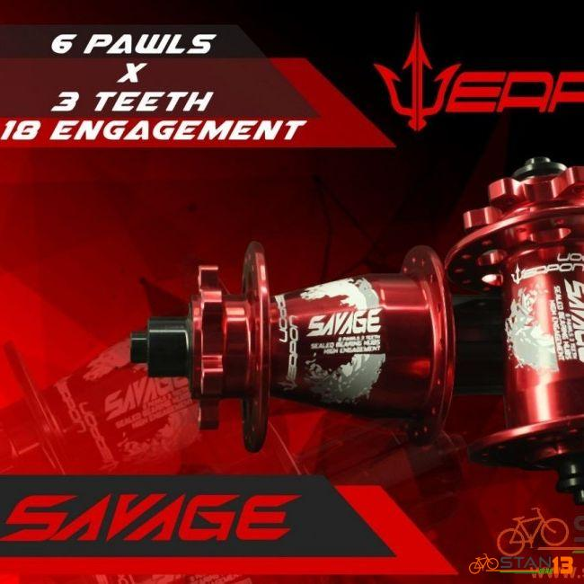 Hub Weapon Savage Sealed Bearing 6 Pawls 3 Teeth Loud Sound 1 Yr Warranty