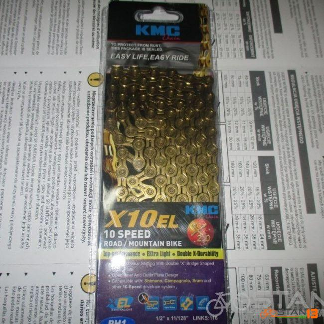 Chain KMC X10 Chain EL Series Gold 10 Speed