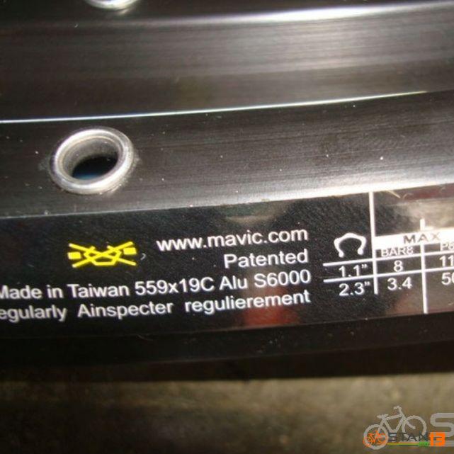 Rim Mavic 319 Rims Mountain Bike Light Weight XC Trail 27.5 or 29er
