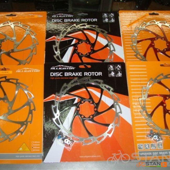 Rotor Alligator Stainless Steel COLORED Windcutter Rotors 160mm and 180mm