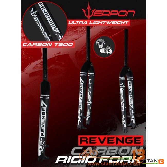 Fork Weapon Revenge T800 FULL Carbon Rigid Fork Revenge7 27.5 or Revenge9 29er