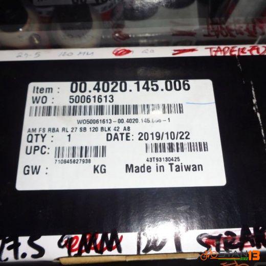 Fork RockShox Reba RL Suspension 27.5 120mm Tapered 15 x 100mm NON-BOOST