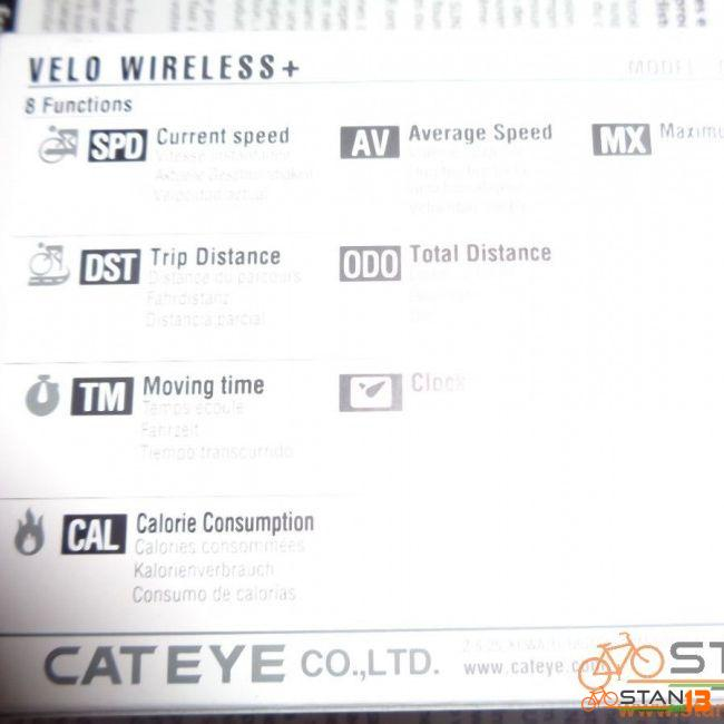 Cateye Velo Wireless + With Back Light Made in Japan