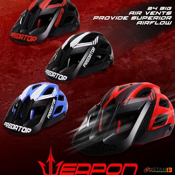 Helmet Weapon Predator Trail Helmet 24 Air vents with Visor