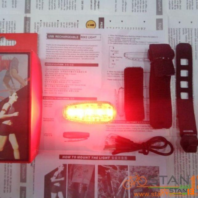 Light Weapon Flicker 5 Beads Versatile Tail Light / Helmet Light / Arm Band Light