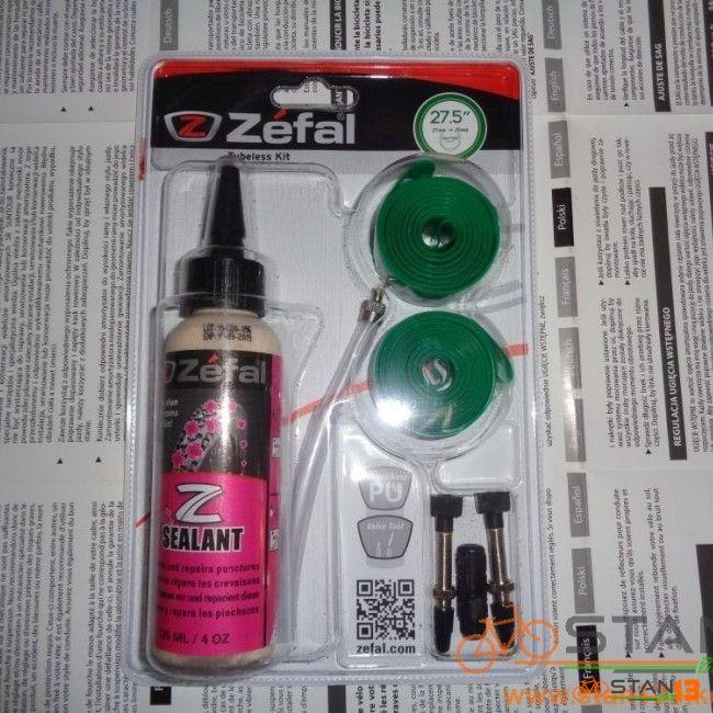 Tubeless Zefal Conversion Kit Rim Tape Sealant and Valves