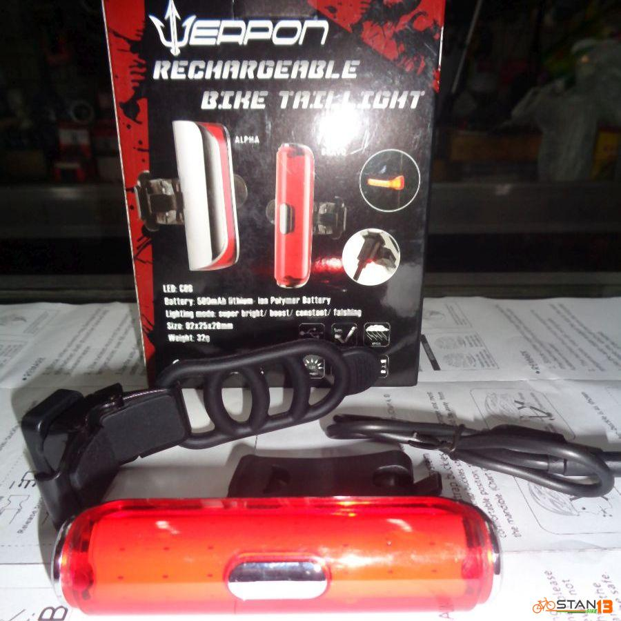 Light Weapon Bravo Tail Light 120 Lumens IPX5