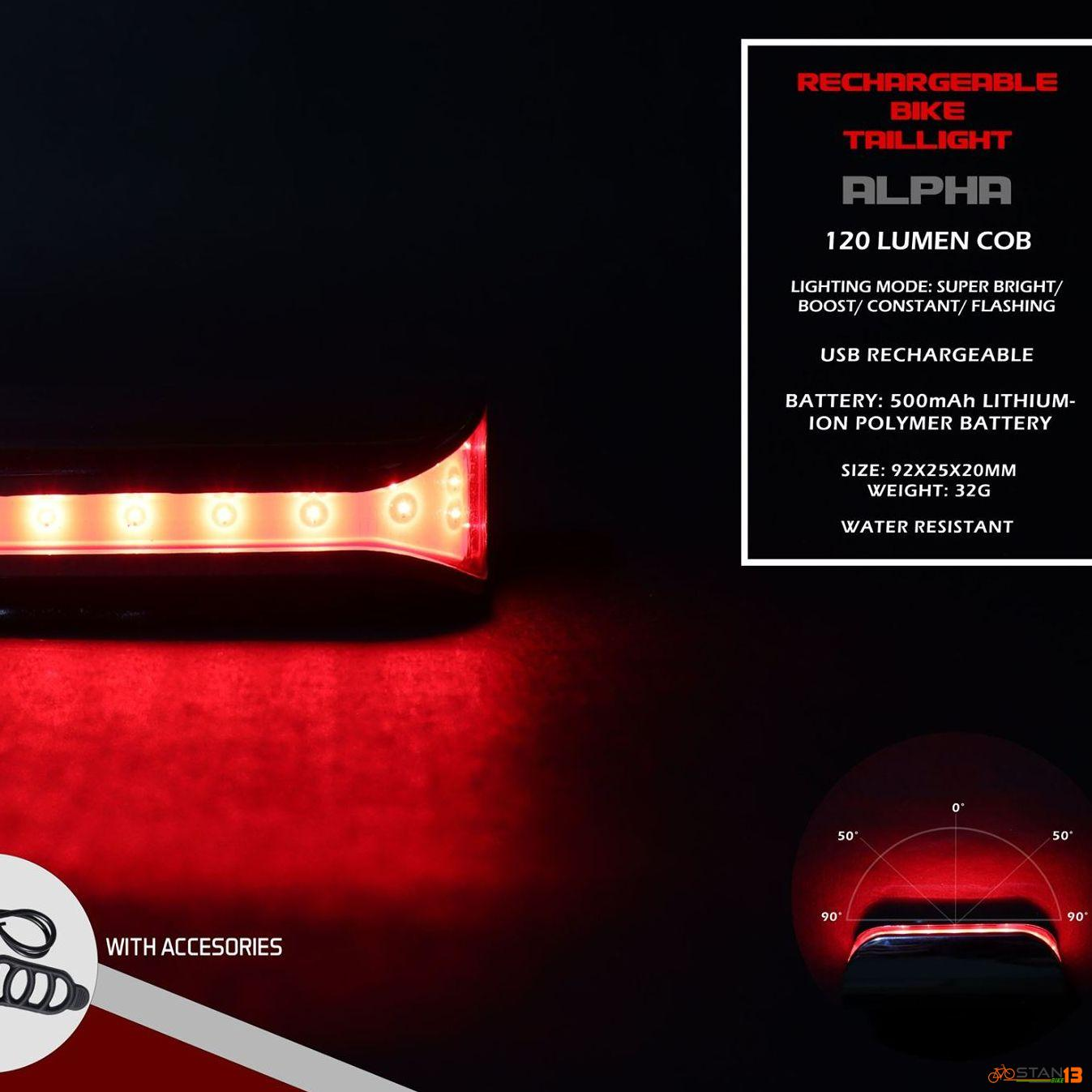 Light Weapon Alpha Tail Light 120 Lumens IPX5