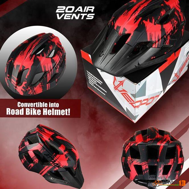 Helmet Weapon Attack Versatile Helmet Road or MTB removable visor