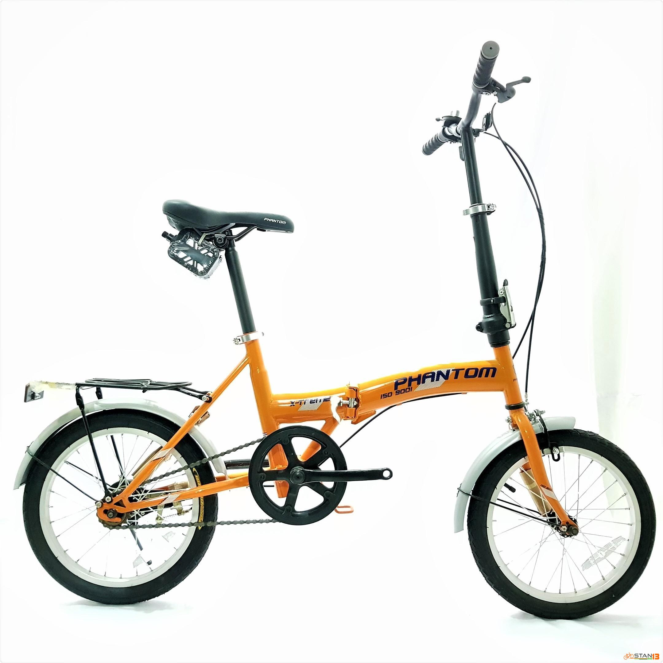 Phantom Extreme Folding Bike 16 inch Wheels With Carrier and Fender