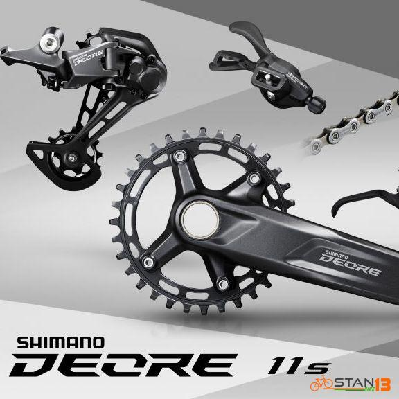 Groupset Shimano Deore M5100 1 x 11 Model 2020 51T Cogs Clamp Type Shifter Right