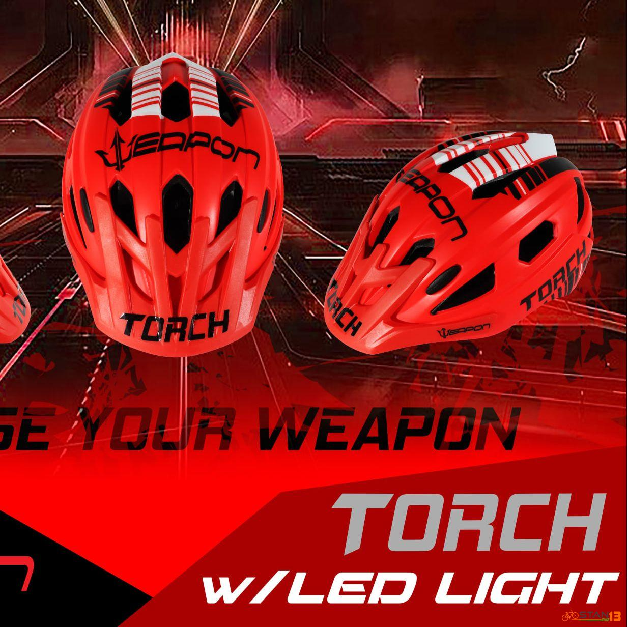 Helmet Weapon Torch with tail light