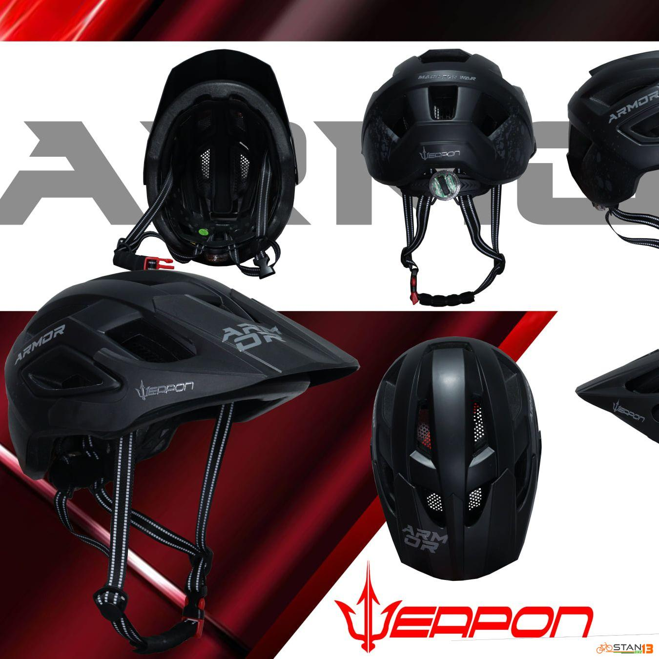 Helmet Weapon Armor with Led Tail light