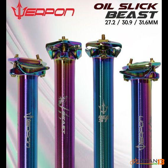 Seatpost Weapon BEAST Oil Slick 31.6 or 30.9 or 27.2