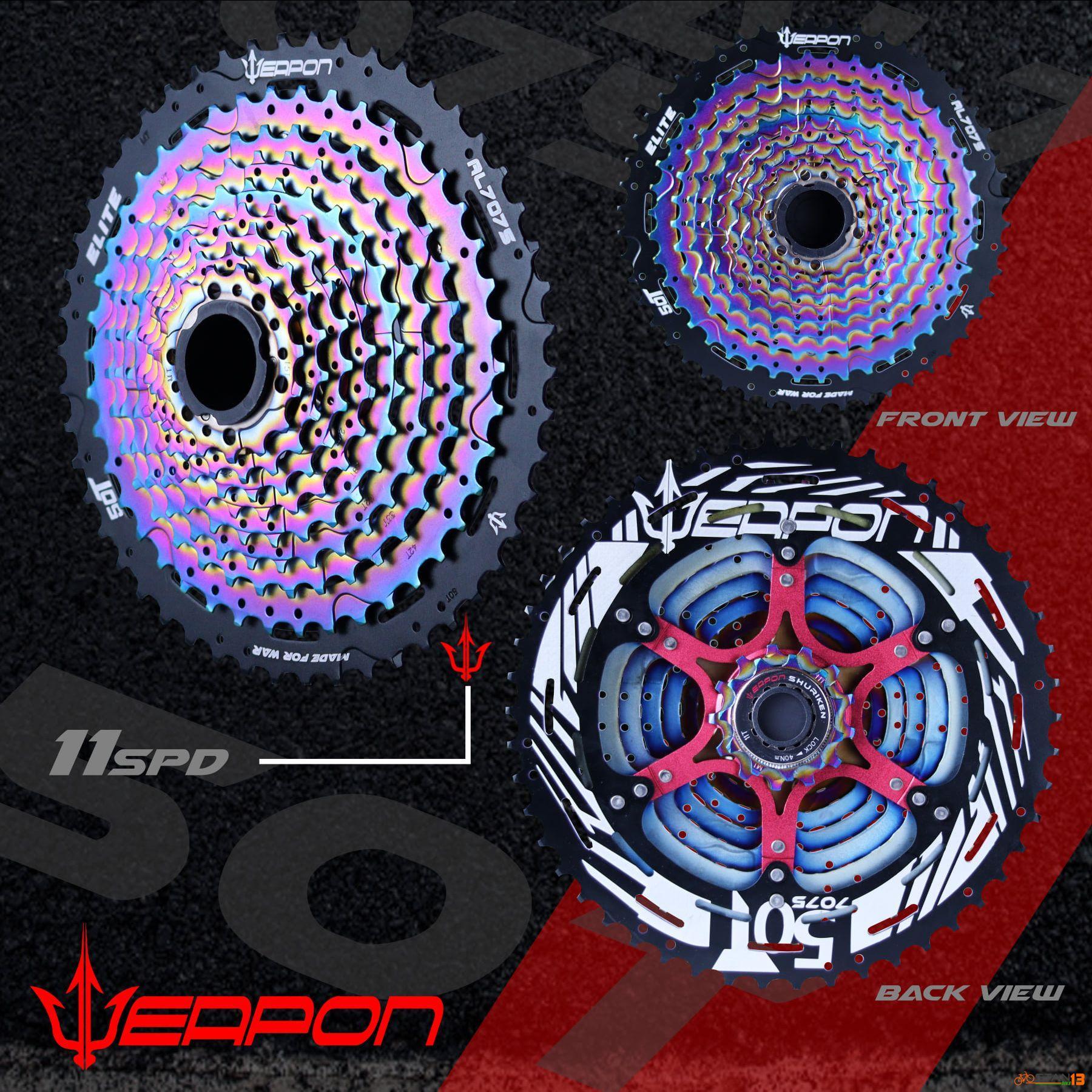 Cassette Weapon Shuriken 11 Speed OIL SLICK ELITE 50T