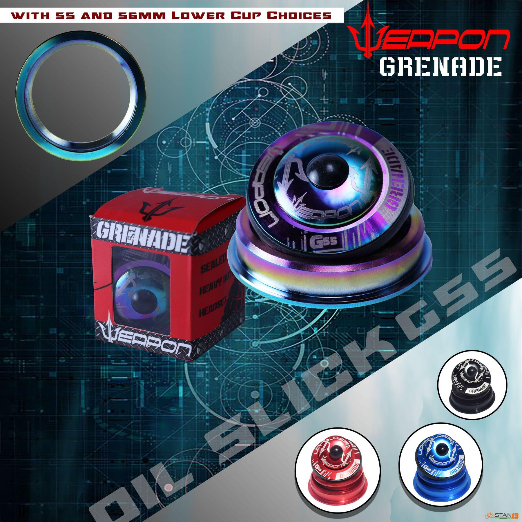 Headset Weapon Grenade Headset OIL SLICK Tapered or Integrated