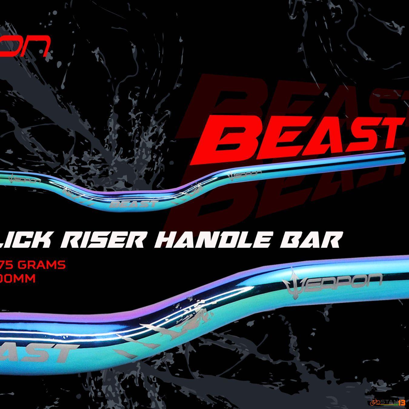 Handlebar Weapon Beast Oil Slick Riser Bar 800mm