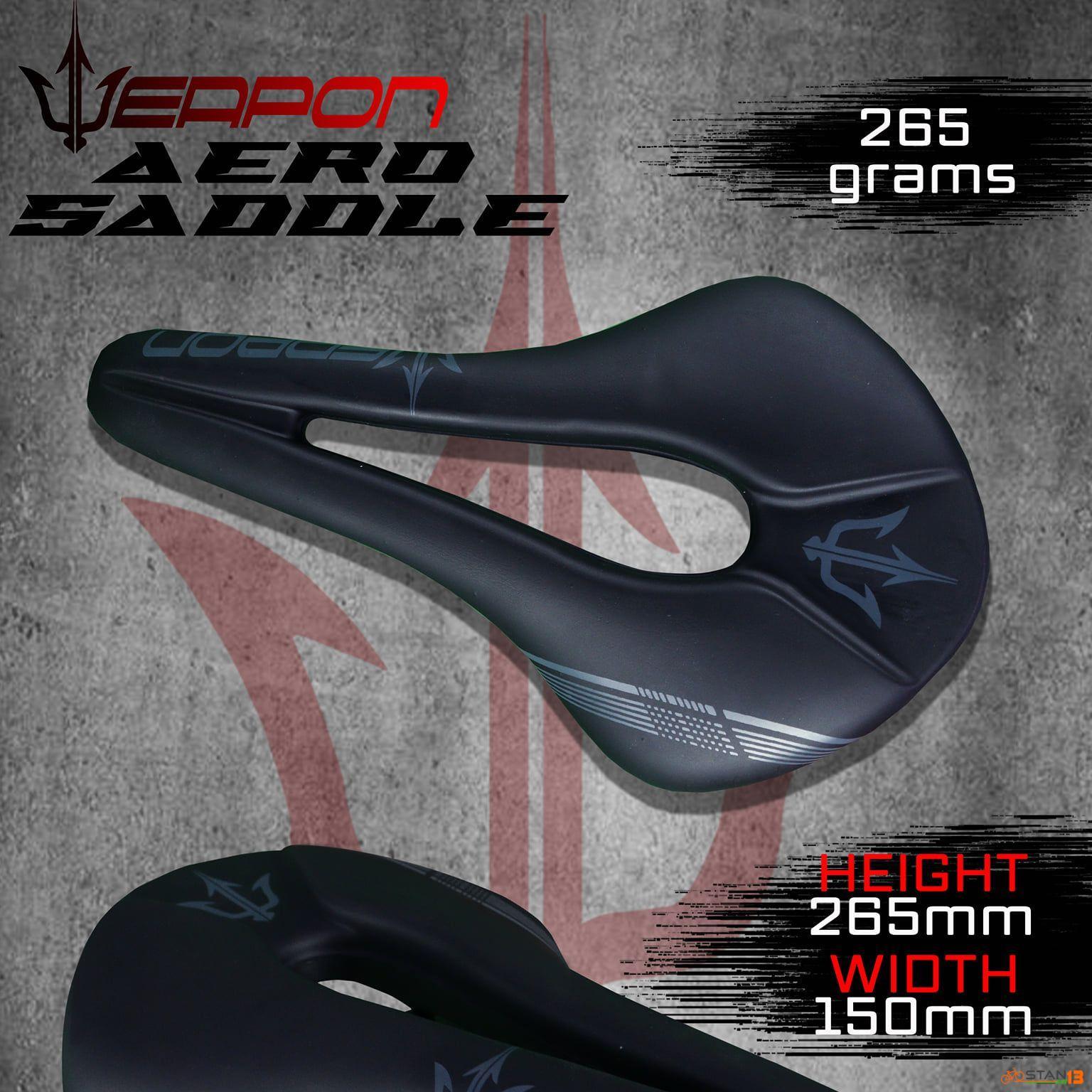 Saddle Weapon Aero Slim Profile Soft and Aerodynamic